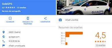 google maps informacion empresa