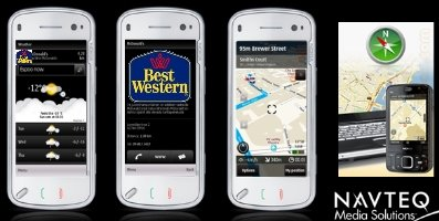 Noticias Navteq location point adevertising nokia